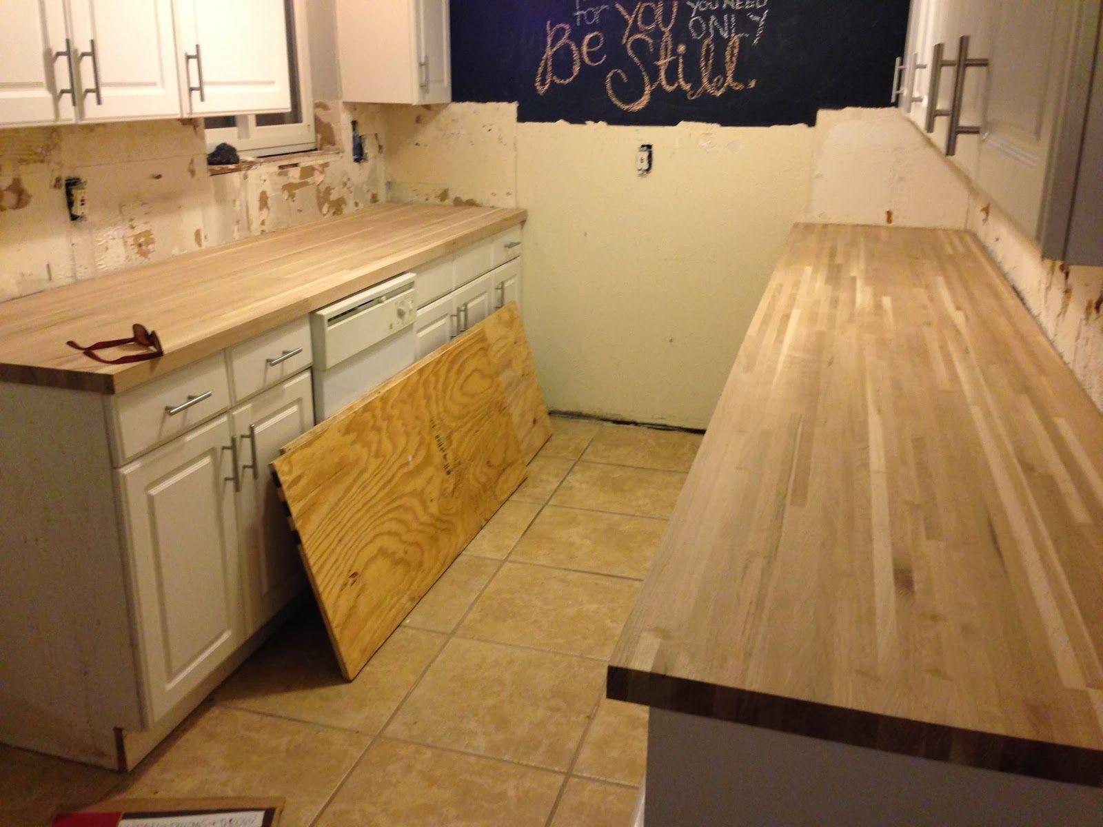 DIY Kitchen Remodel - Butcher block countertops   Kitchen Ideas ...