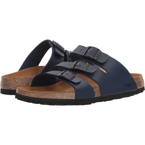 0981a9654 Betula Licensed by Birkenstock Leo Birko-Flor (Basic Navy) Women s... ( 50)  ❤ liked on Polyvore featuring shoes