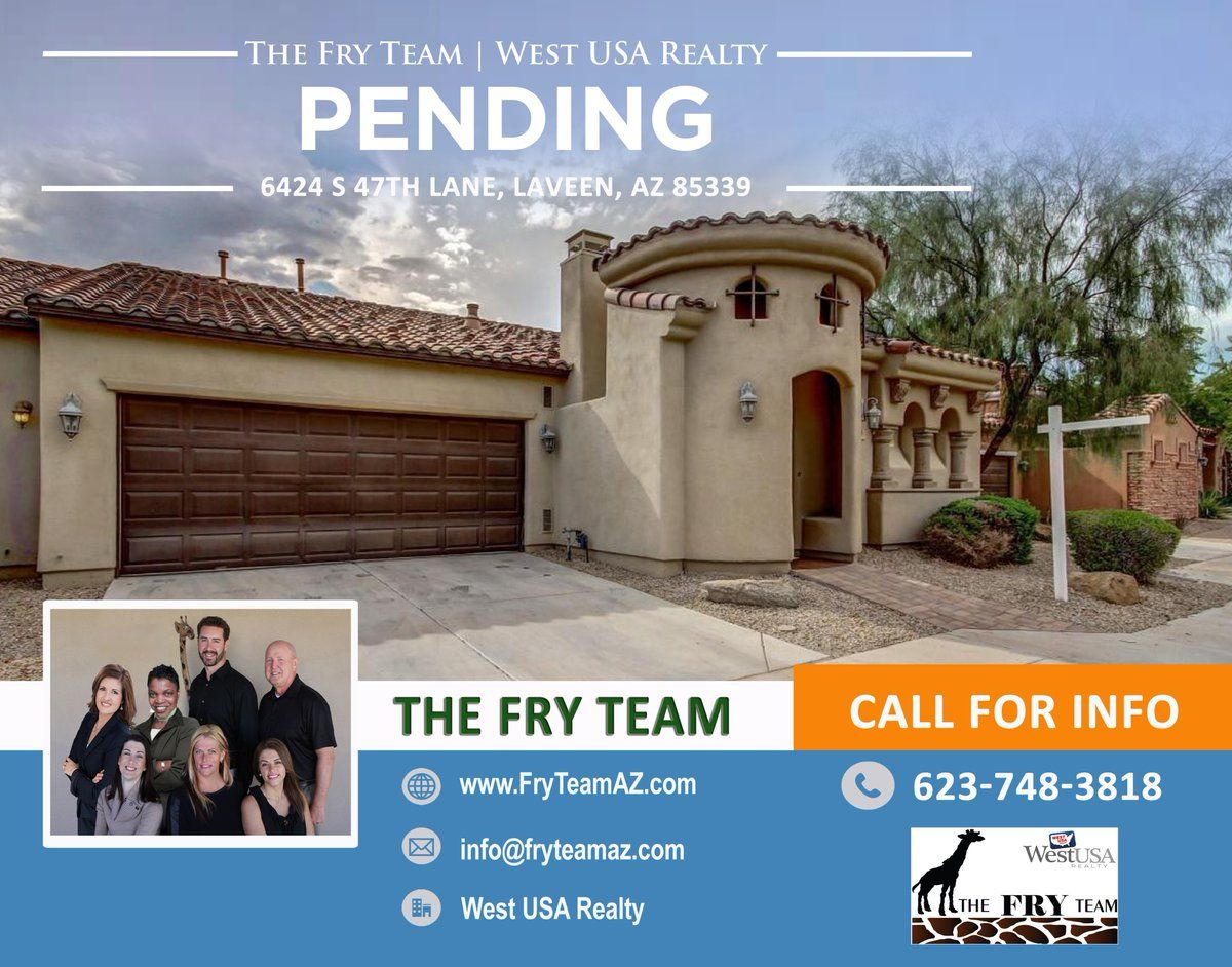 """We are now PENDING on this """"Low Maintenance Perfect Laveen Home With All You Need""""   If you are looking to sell or buy a home, let The Fry Team make it simple for you... CALL 623-748-3818 or visit us at www.FryTeamAZ.com for more information.   #PENDING #Residential #HomeForSale #47thLane #Laveen #AZ #RealEstate #TheFryTeam #HomeBuying #HomeSelling #WestUSARealty"""
