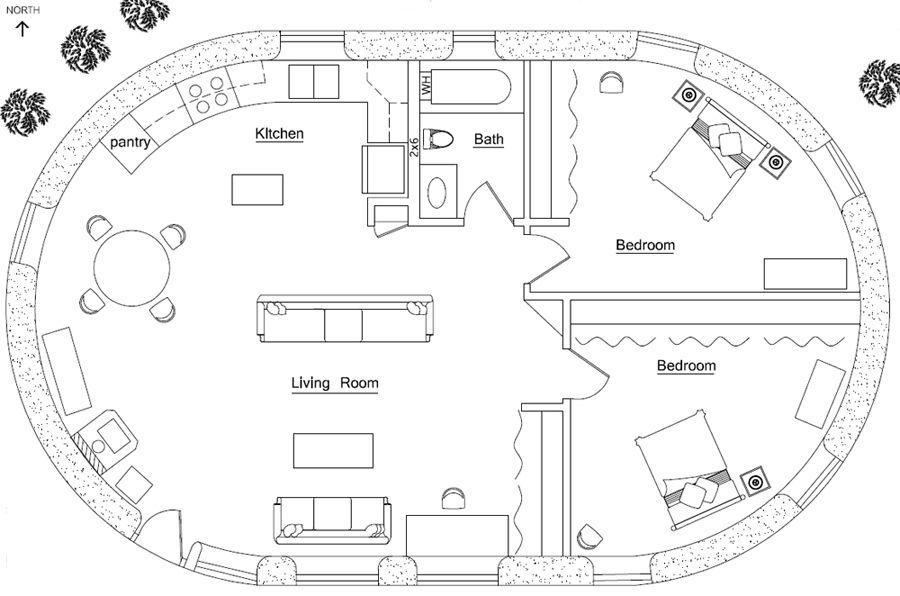 Earthbag House Plans Small Affordable Sustainable Earthbag - Building earthbag house plans free