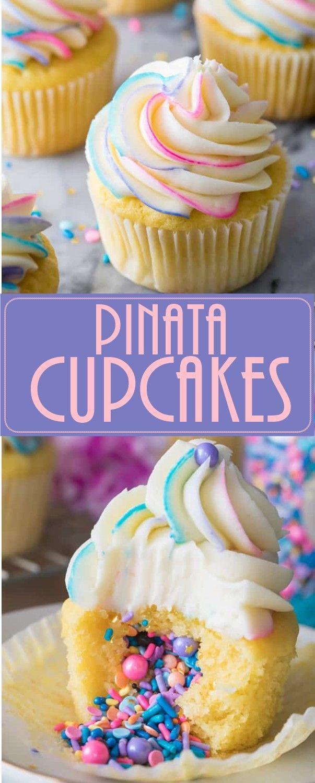 Photo of Pinata Cupcakes – Trendrezepte –  Pinata Cupcakes – Trendrezepte  – #cupcakes …