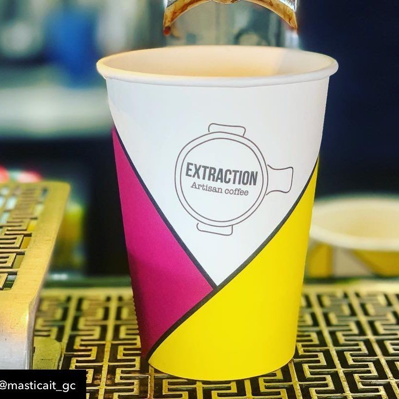 Extraction Artisan Coffee Provides A Well Thought Coffee Experience For Their Customers From T Paper Coffee Cup Custom Coffee Cups Custom Paper Cups