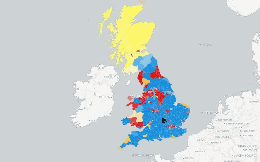 Election 2015 results MAPPED 2015 full list politics
