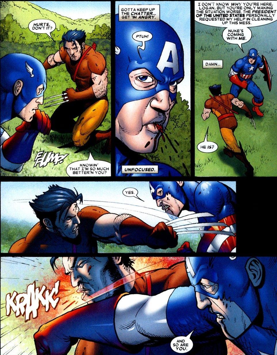 Wolverine Vs Captain America Wolverine Origins 4 Wolverine Marvel Wolverine Vs Captain America Marvel
