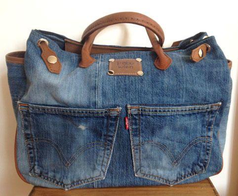 pabu jeans recycelt als tasche pinterest jeanstasche n hen und jeans. Black Bedroom Furniture Sets. Home Design Ideas