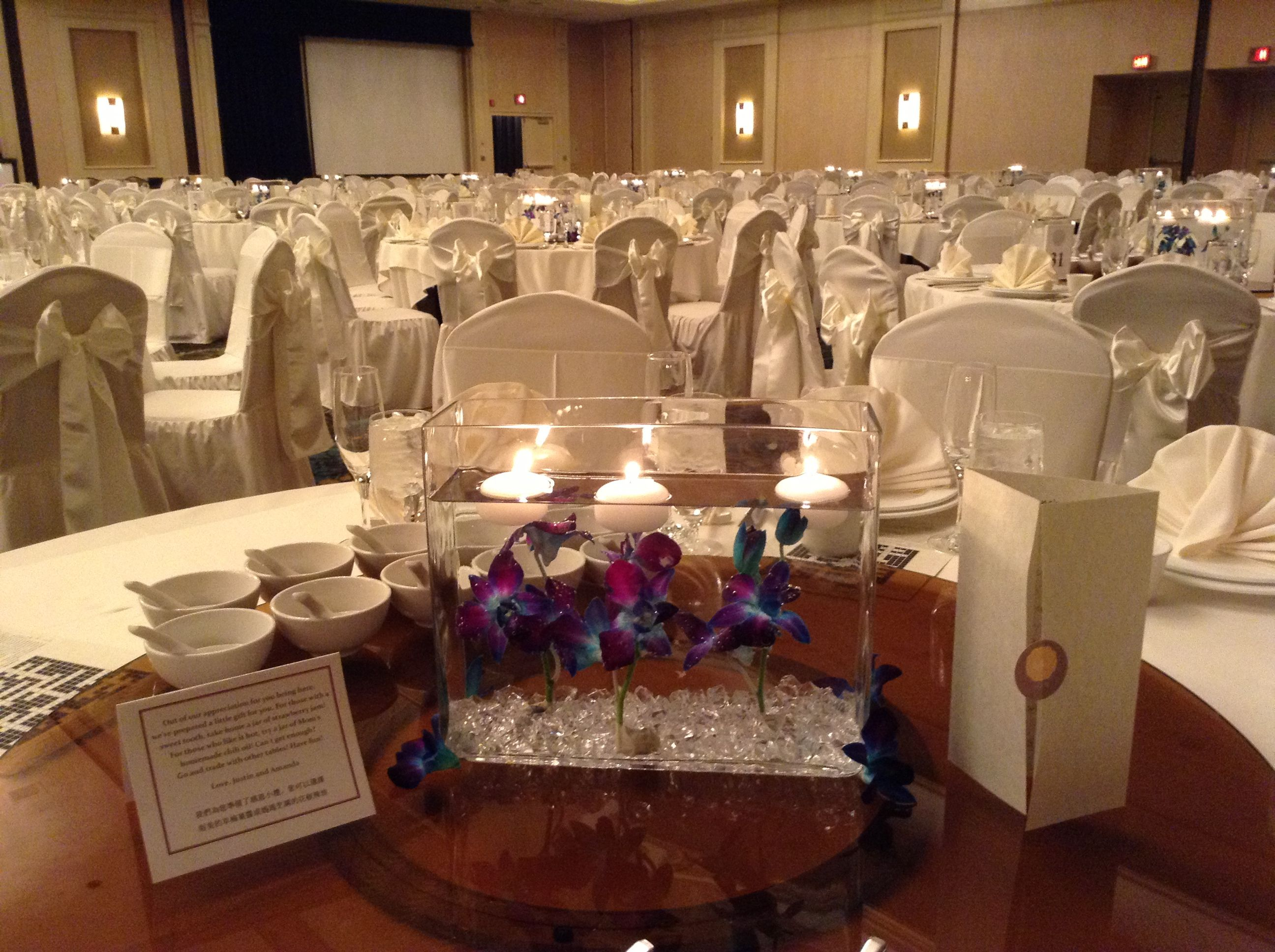 Captivating Long Rectangular Centerpiece Great For Long Tables And Any Size Round Table.  Great For Quinceaneras