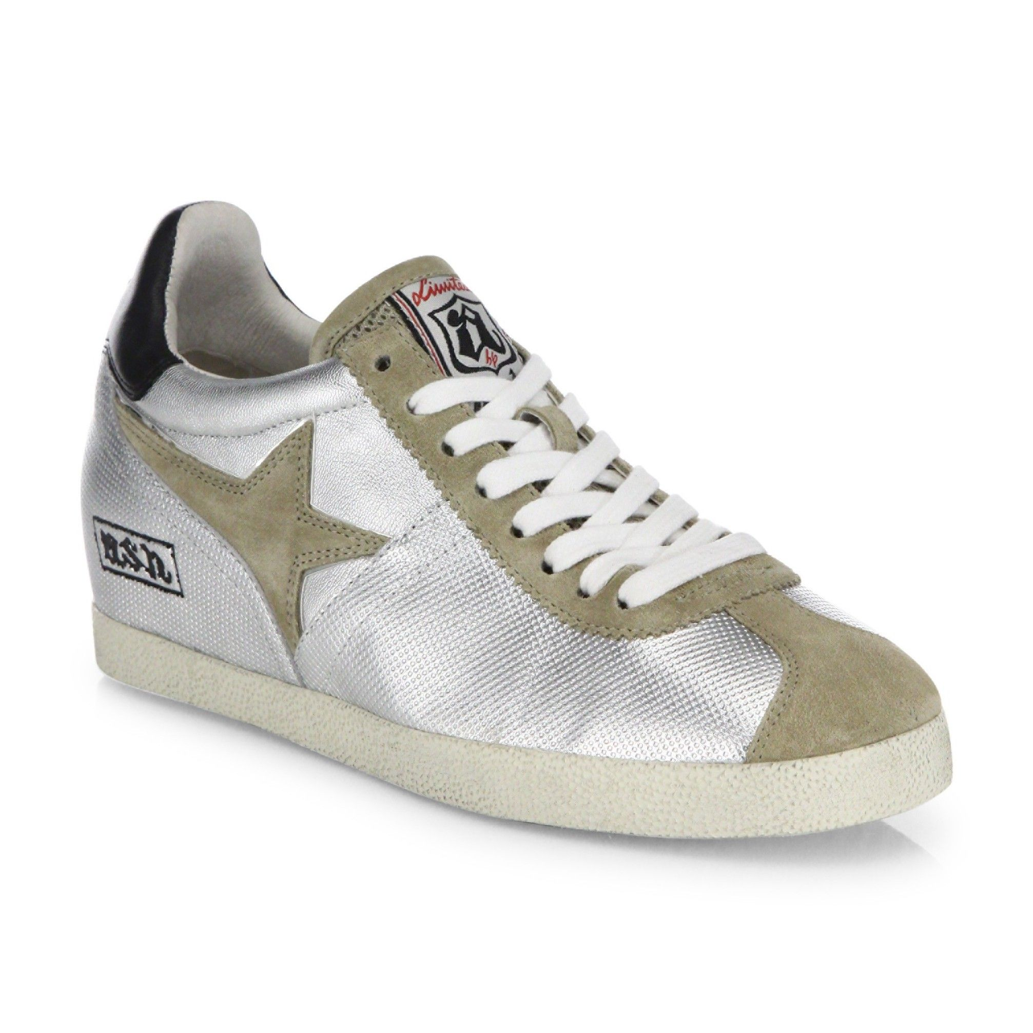 Mesh And Neoprene Sneakers - GrayLanvin lYUGUqTky