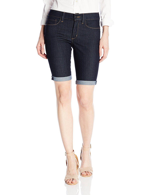 NYDJ Womens Petite Size Briella Roll Cuff Jean Short