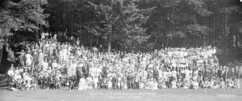 Annual Picnic H.B. Co. Employees Association. Bowen Island Aug. 3rd 1921 - City of Vancouver Archives