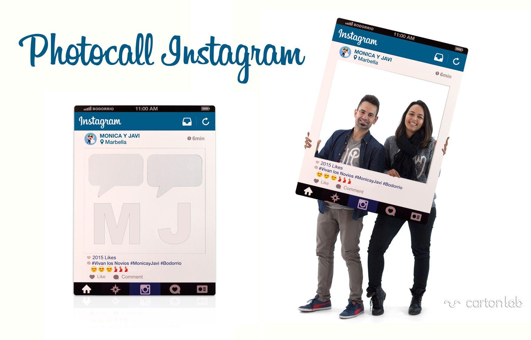Photocall marco Instagram | Tu nombre, Iniciales y Ligeros