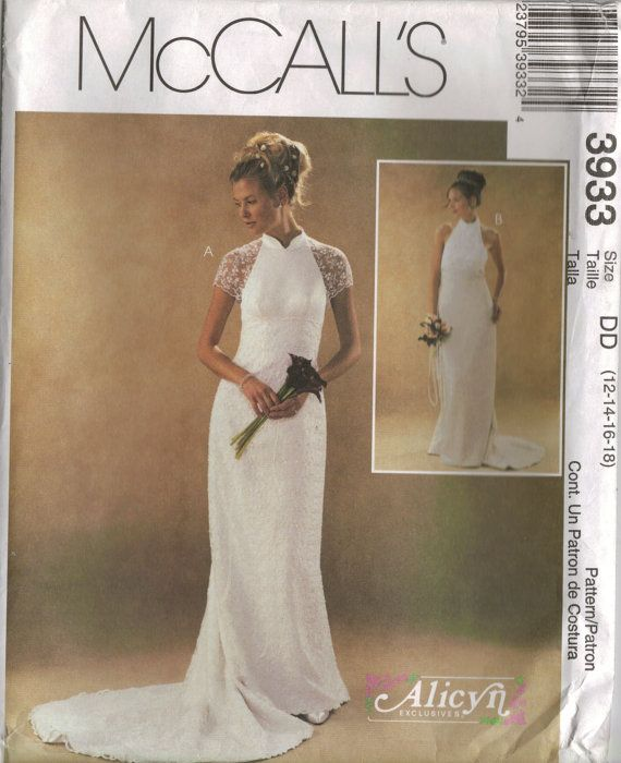 McCall\'s Sewing Pattern 3933 - Lined Wedding Dresses (12-18 ...