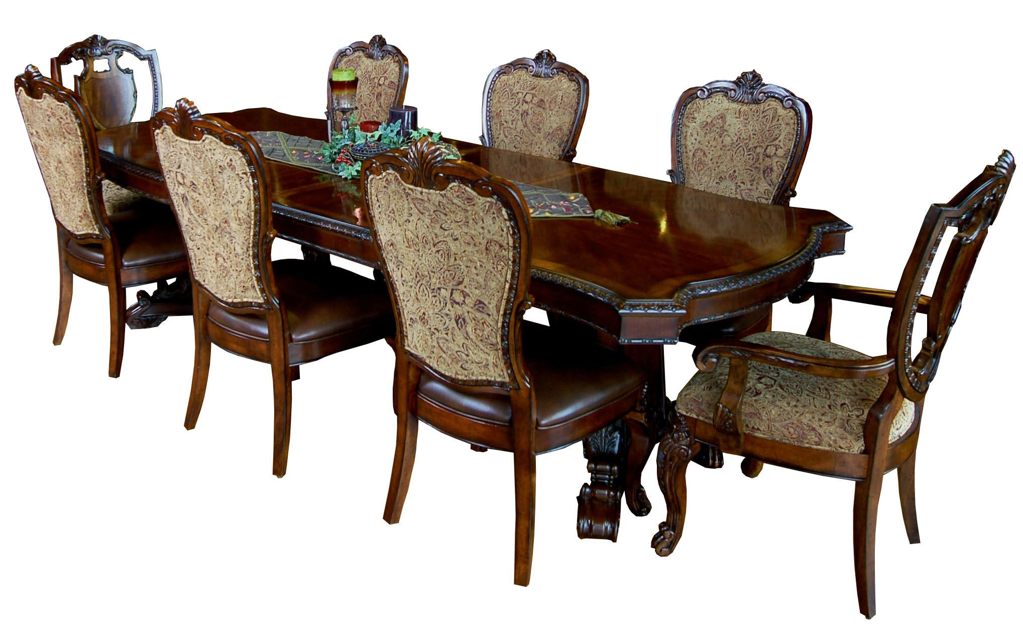 9 Piece Old World Dining Table And Chair Set Victorian Dining