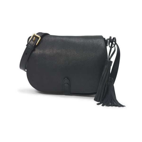 Polo Ralph Lauren Leather Tassel Messenger Bag ($428) ? liked on Polyvore  featuring bags