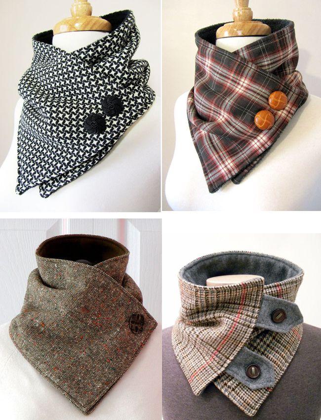 Cómo coser un soporte de collar removible original | Neckwarmers ...