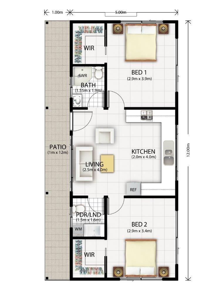 1 Bedroom Granny Flat Floor Plans Part - 42: Granny Flat Plans - Google Search | Granny Flats | Pinterest | Granny Flat  Plans, Granny Flat And Google Search