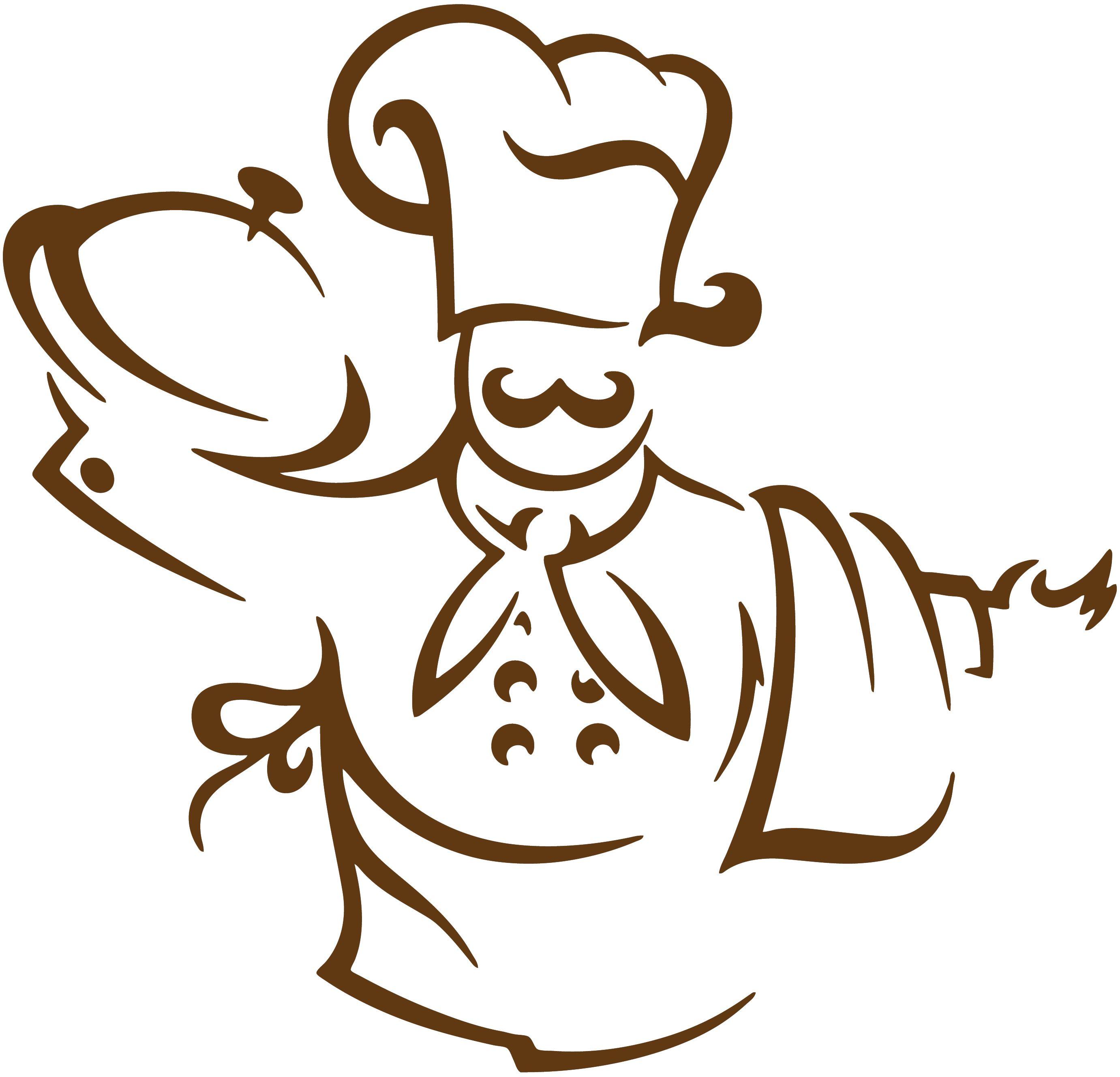 Sticker Cuisine - Chef avec Soupière … | cameo | Pinterest | Schablone