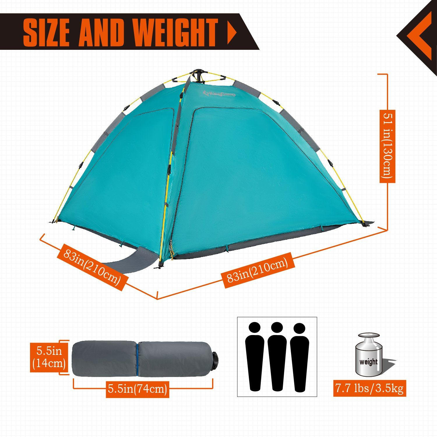 Kingcamp Beach Sun Shelter Upf 50 Family Camping Tent For 4person With Detachable Three Side Walls Cyan Details Can B Family Tent Camping Tent Tent Camping