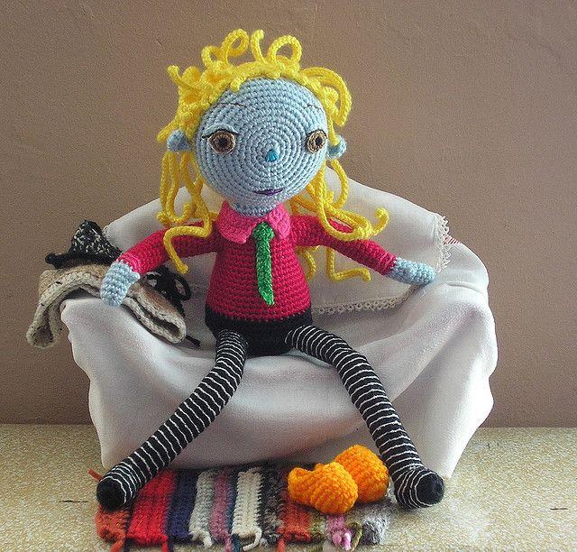 colorful #amigurumi doll.