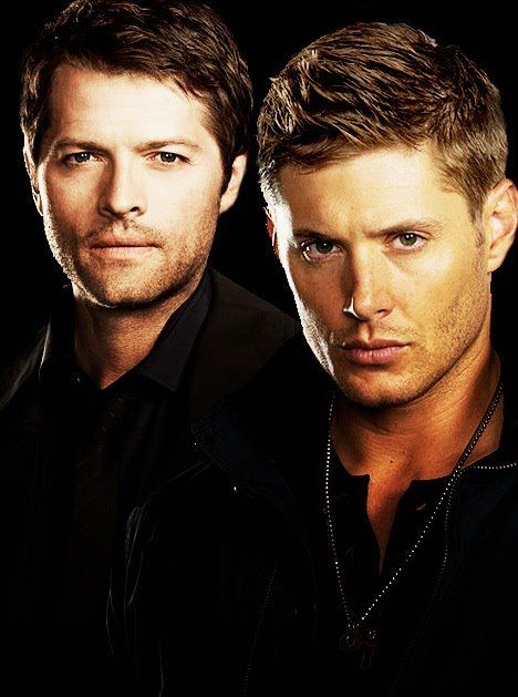 Misha Collins, Jensen Ackles as Castiel and Dean in Supernatural