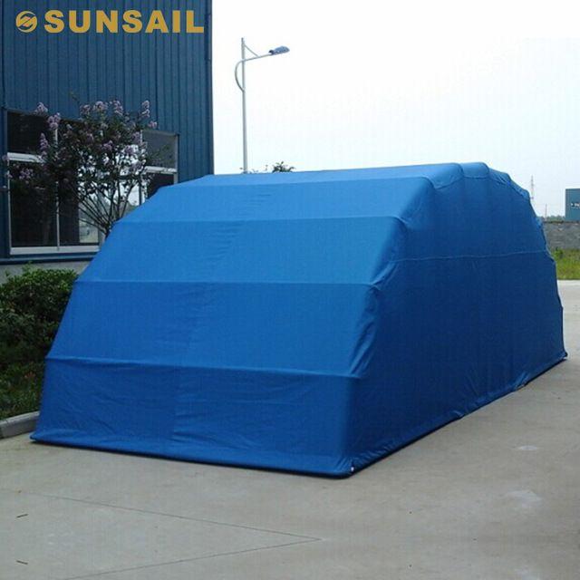 Source folding portable motorized car garage on for Modular 3 car garage