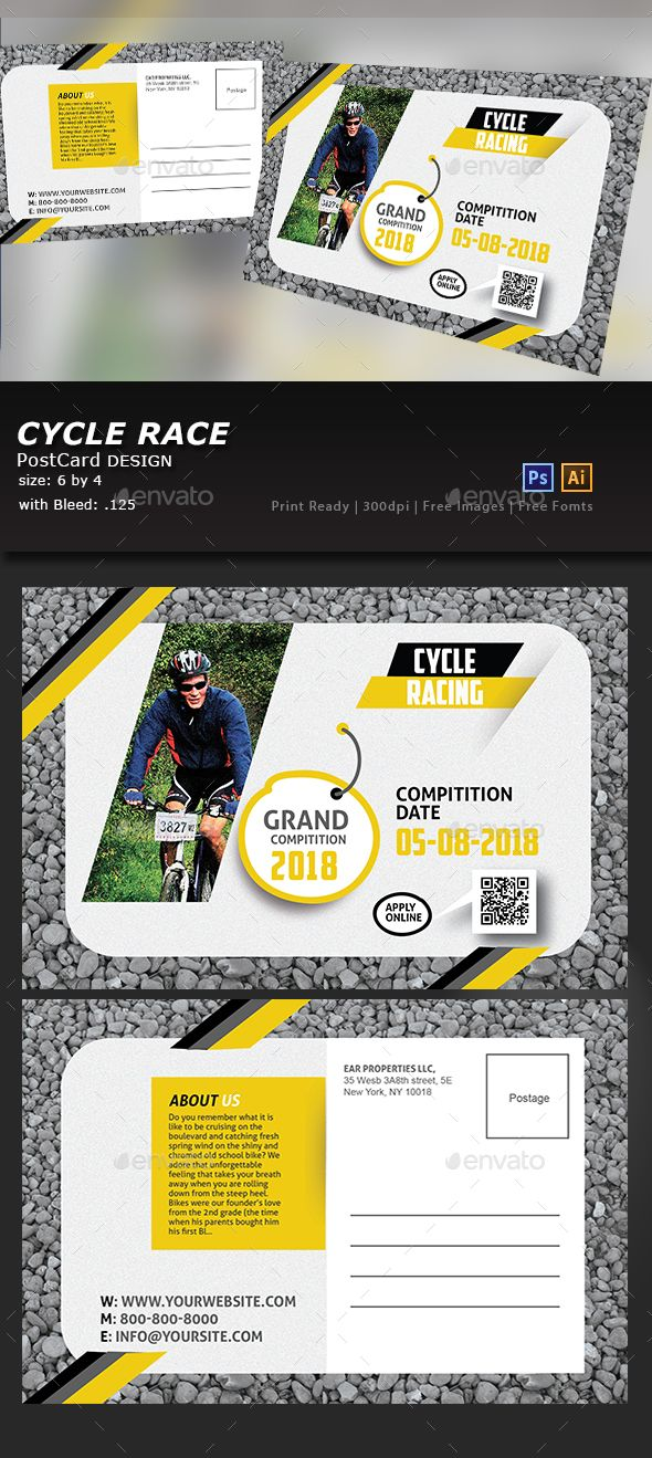 Bicycle Racing Post Card | Post card, Bicycling and Postcard template