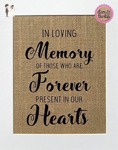 In loving memory rustic wedding remembrance sign wooden shabby vintage chic