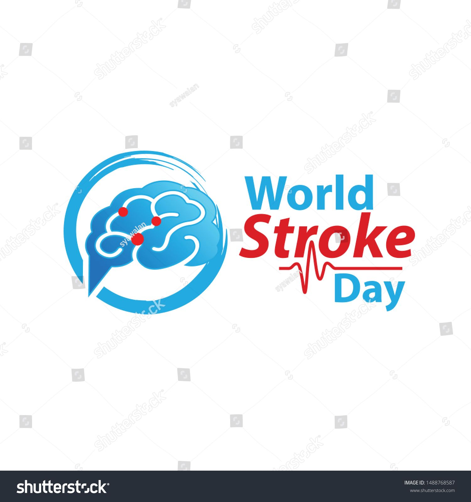 Vector Illustration Of World Stroke Day Health Care Campaign Ad Affiliate World Stroke Vector Illustrati World Stroke Day Health Care Home Decor Decals