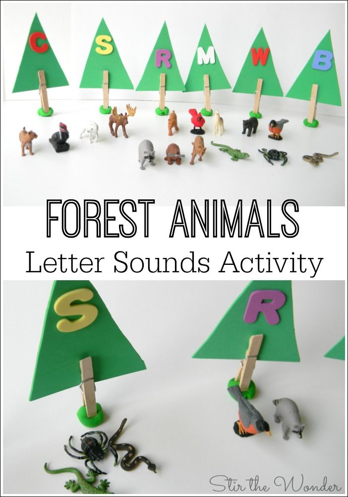 forest animals letter sounds activity stir the wonder letter sound activities animal. Black Bedroom Furniture Sets. Home Design Ideas