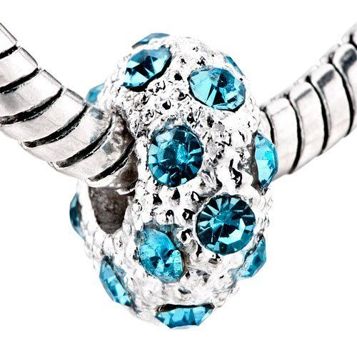Who Sells Pandora Jewelry: Pugster White Ball March Birthstone European Beads Fit