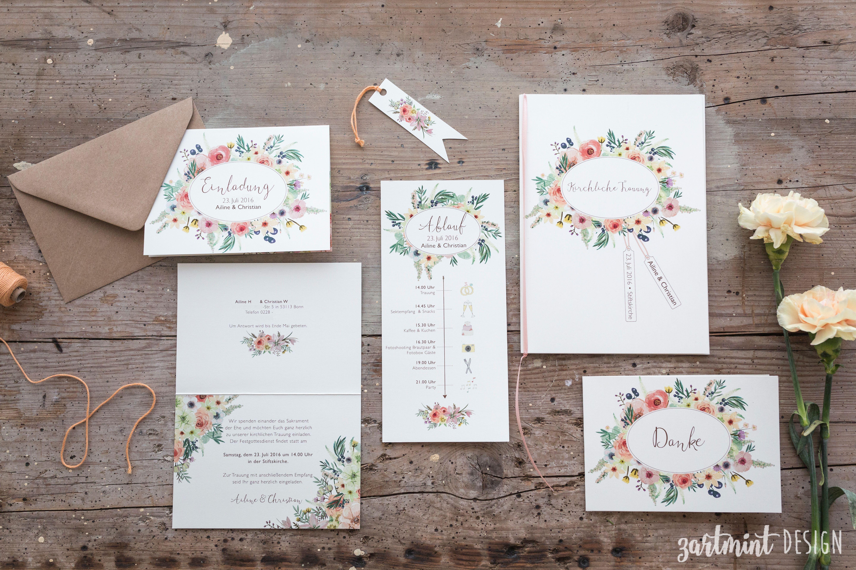 Hochzeitspapeterie | Hochzeitseinladung Sommer Wilde Blumen ♥ Blumenwiese,  Sommerhochzeit, Bunt, Natur, Ablauf