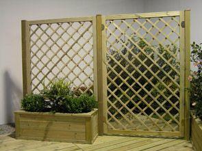 Grigliati per fioriere in legno per arredo giardino edilgarden brescia portico anteriore - Fioriere in legno per giardino ...