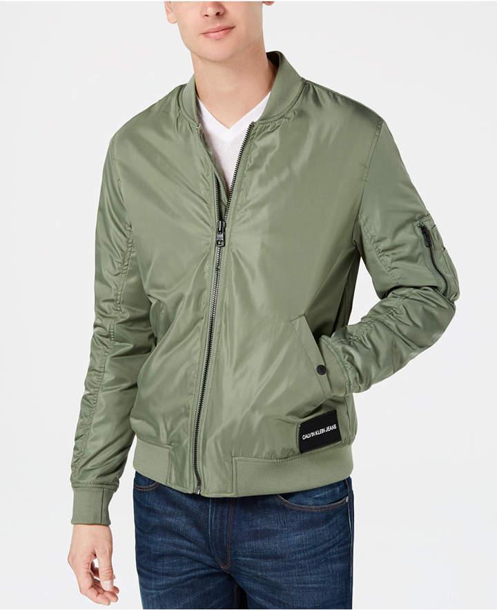 24c0e1c2b Calvin Klein Jeans Men's Nylon Bomber Jacket Created for Macy's ...