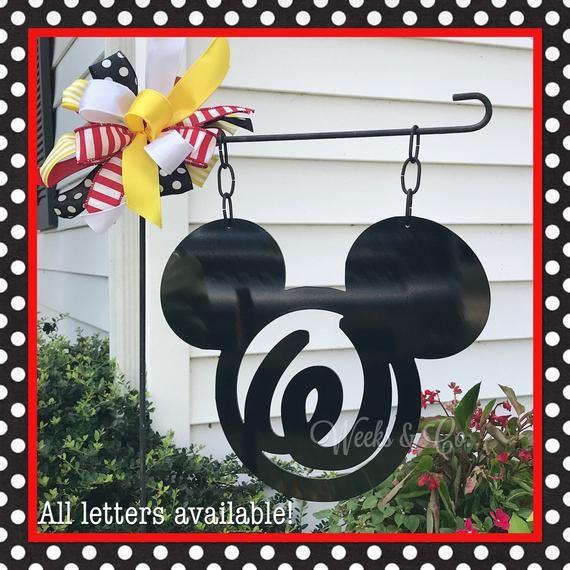 Garden House Beautiful Magazine Inspires Garden Lovers: Disney Mickey Inspired Garden Flag. Made Of Aluminum