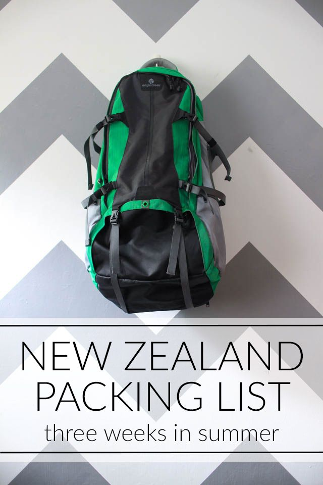 packing list: 3 weeks in New Zealand