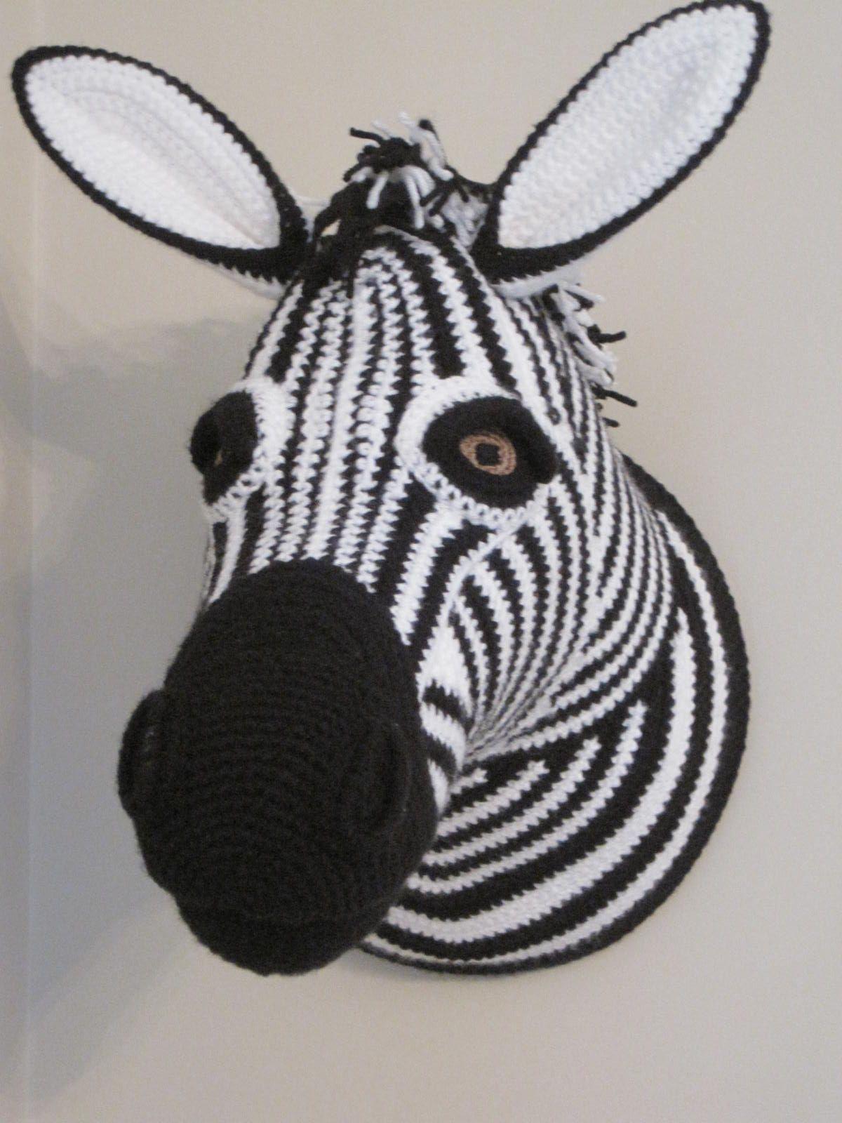 Crochet Taxidermy Zebra Pattern From Animal Heads By Vanessa Mooncie