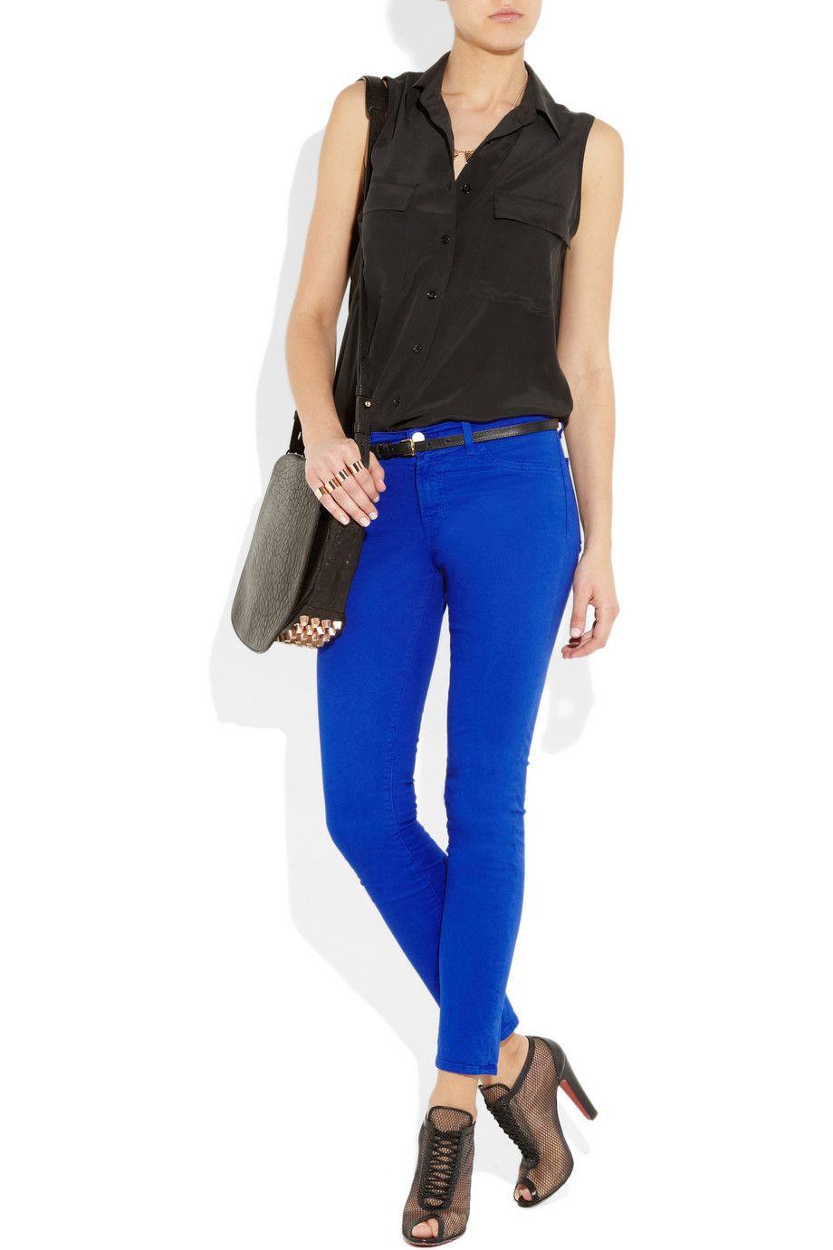 J Brand twill skinny jeans $175