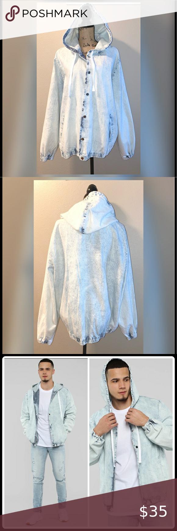 Fashion Nova Men S Jean Jacket Size Xl Fashion Mens Light Jacket Casual Jacket [ 1740 x 580 Pixel ]