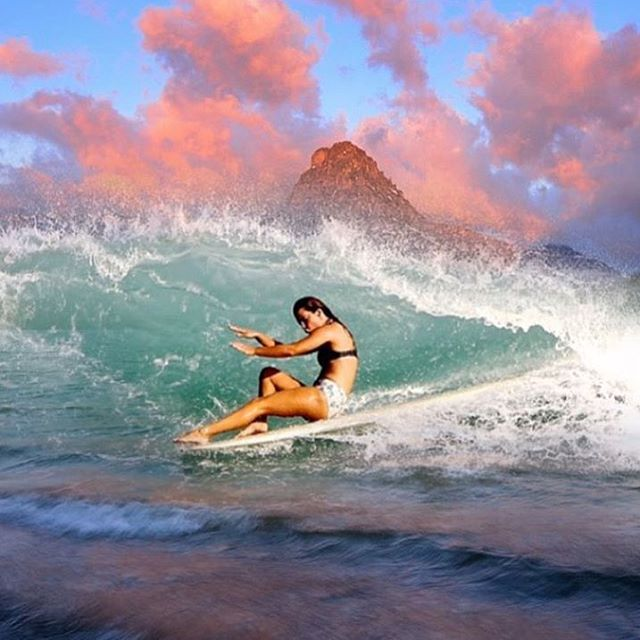 Makala being Makala. Art by Super Sano grom @rivercovey wearing the Seea Chicama bottoms and Capitola Top.