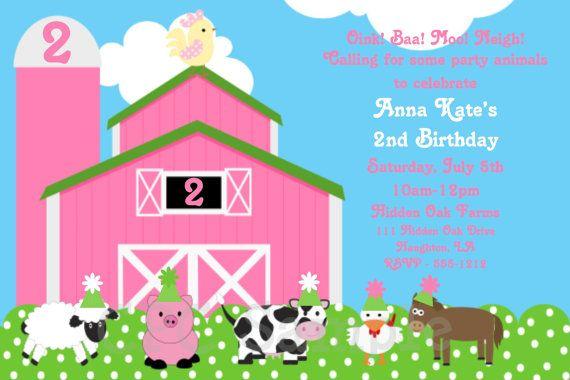 Farm Birthday Invitation Petting Zoo Party Invitations Printable
