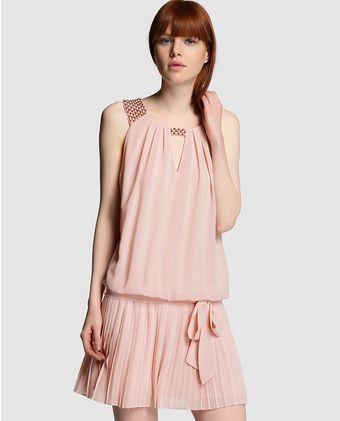 Vestido corto de mujer tintoretto con falda plisada