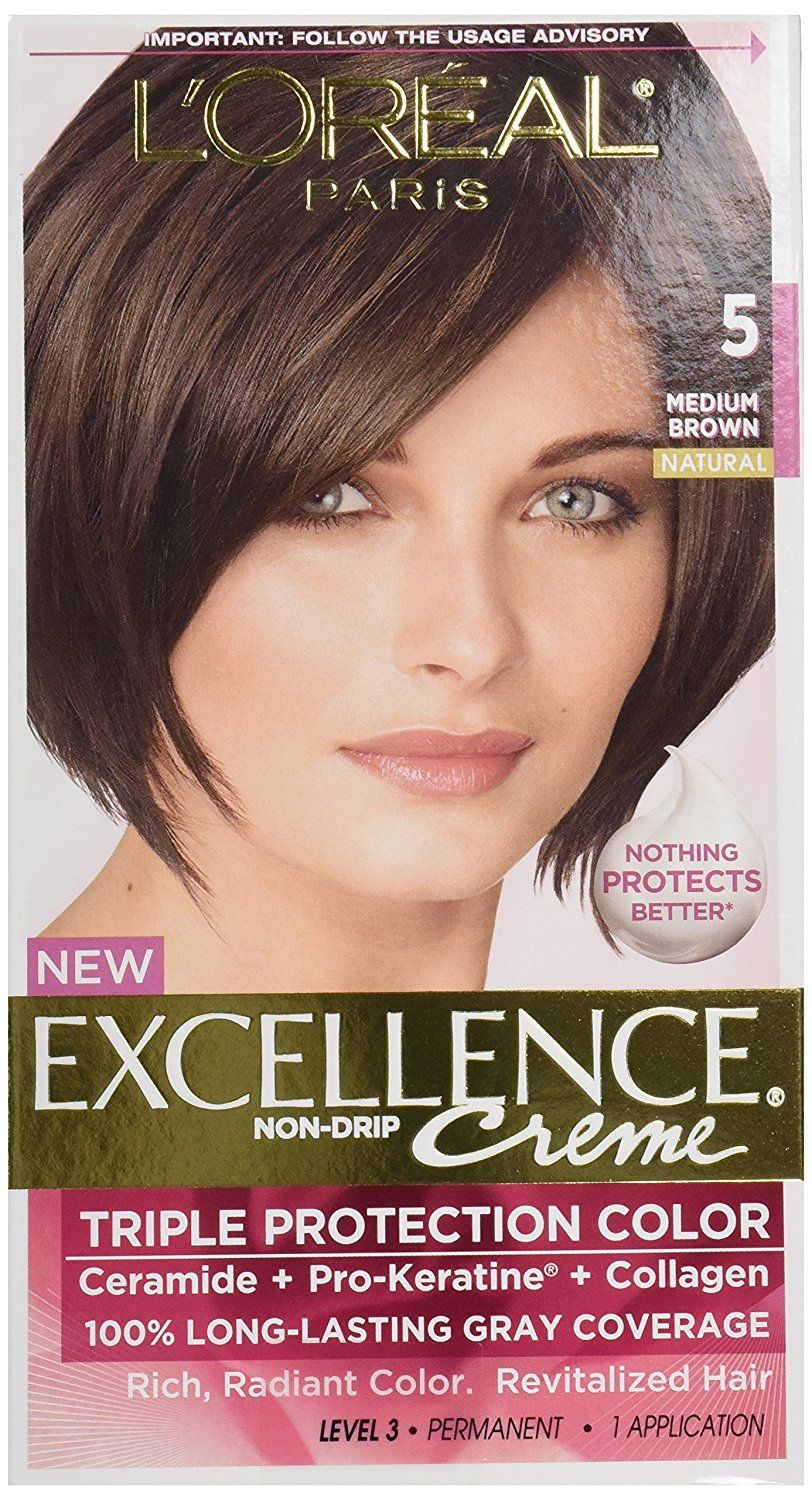 Loreal Excellence 5 Medium Brown Hair Color 1 Ct Details Can