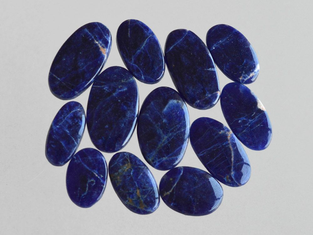 12 Pcs Rare  Sodalite Gemstone,Handmade Cabochon Jewelry Making Gemstone,Smooth Polish Gemstone,Rare Sodalite Gemstone#9288 by dhorgems on Etsy