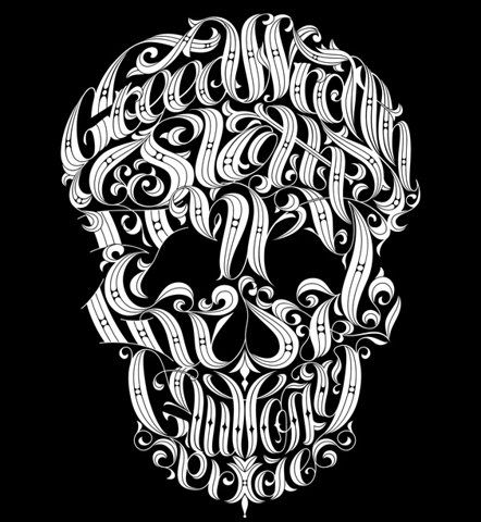 skulls and typography. but of course.