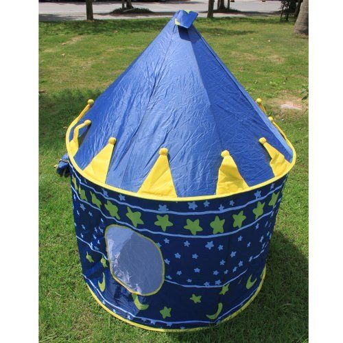 Children Kids Playhouse Castle Game Play Tent Indoor/Outdoor Blue by Crazy Cart. $50.44. Features: 1. With high-quality and eco-friendly materials, it is attractive, breathable and non-irritating  2. It is safe, reliable and easy to fold 3. Easy to clean, you just need to gently wipe dirt with a damp cloth 4. The curtain can be rolled up, which extends the play space 5. High-density and anti-mosquito gauze can prevent kids from mosquito bites 6. Light and compact, it is e...