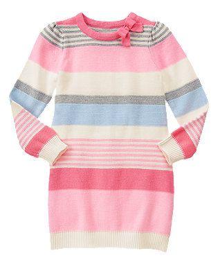 a9dd224e4 Girls Candy Pink Stripe Multi-Striped Sweater Dress by Gymboree ...