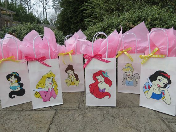 Disney Princess Goo Bags By Littledawgdesigns On Etsy 15 00
