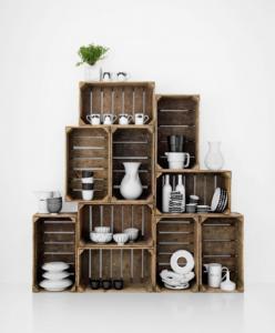 Wooden Crate Display Crate Shelves Pottery Display Bookshelves Diy