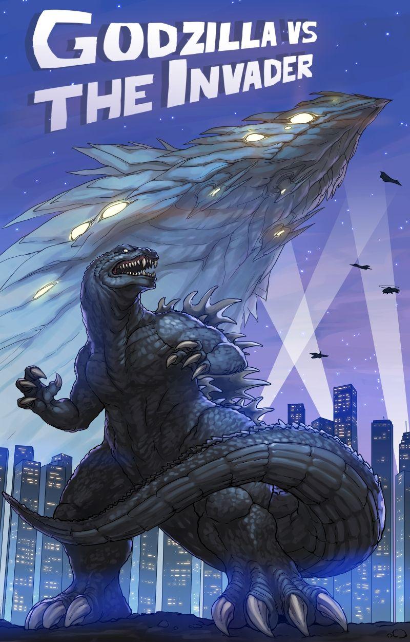 Godzilla Vs The Invader By Blackmyst On Deviantart Godzilla Godzilla Vs Kaiju