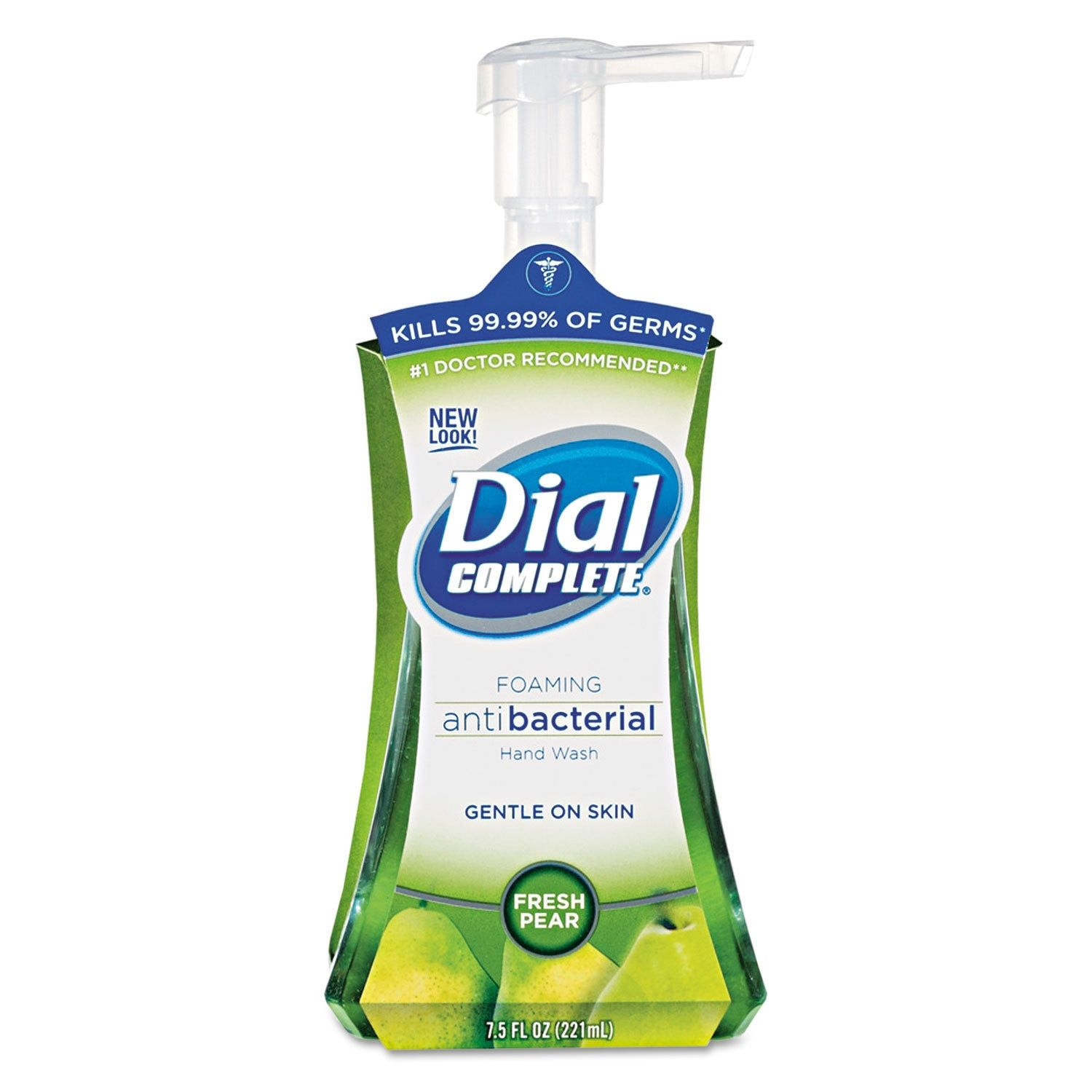 Dial Professional Antimicrobial Foaming Hand Soap Fresh Pear 7.5-ounce Pump Bottle 8/Carton