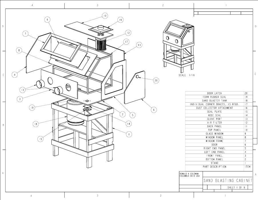 Popular Mechanics Plans-Homemade Sandblasting Cabinet Blueprints ...